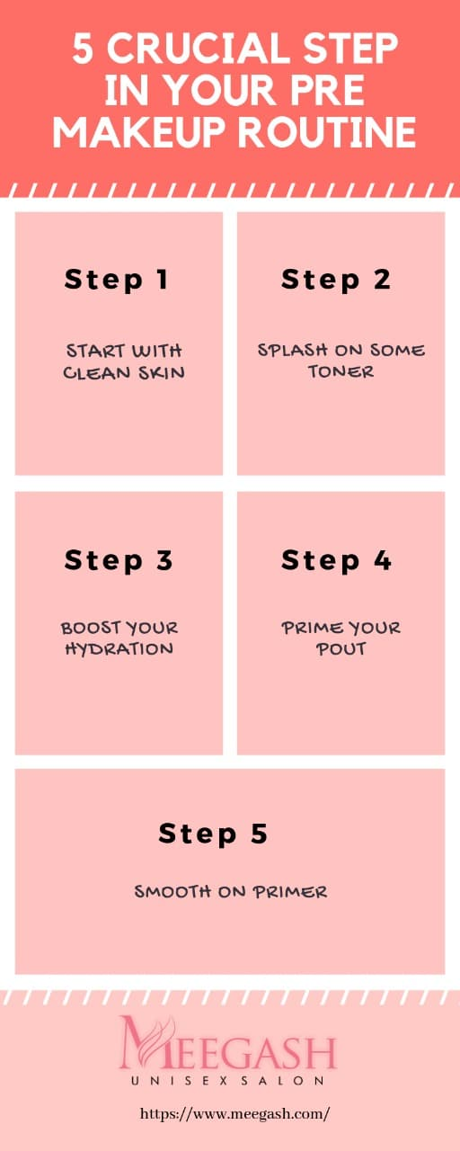 5 Steps to prepare for makeup